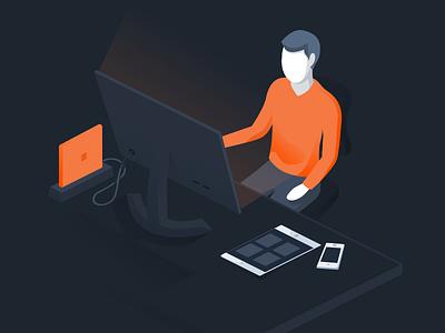 Worthwhile desktop illustration affinity designer worthwhile isometric marketing vector illustration