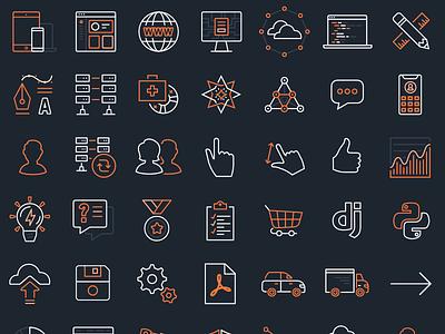 Revamped Worthwhile icon set 2017 affinity designer worthwhile branding icon set icons