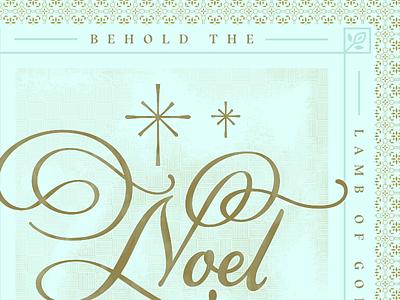 Noel 2017 affinity designer vector script lettering holiday christmas