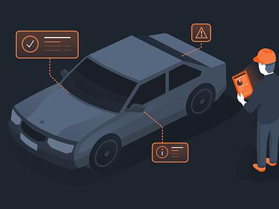 Worthwhile + Automotive affinity designer vector isometric illustration worthwhile