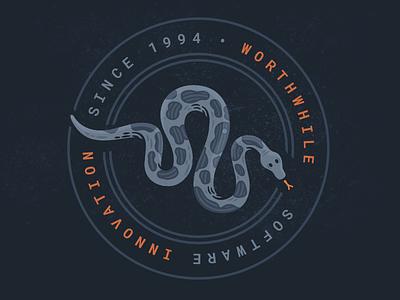 Worthwhile: Python & Software Innovation software worthwhile badge affinity designer illustration vector
