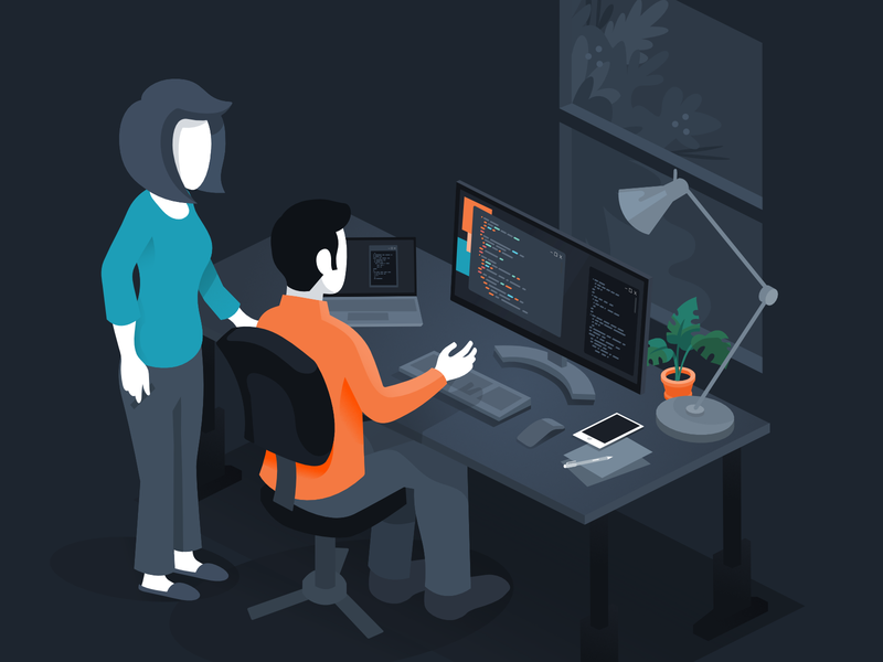 Worthwhile: Collaboration and Development development software isometric affinity designer illustration vector illustration worthwhile