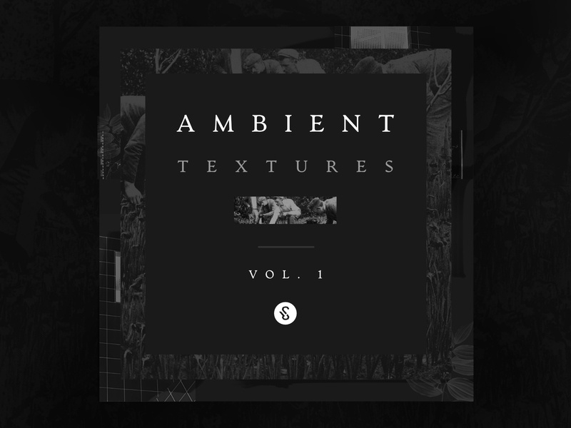 Ambient Textures Vol.1 Playlist Cover collage dark affinity designer ambient playlist album art