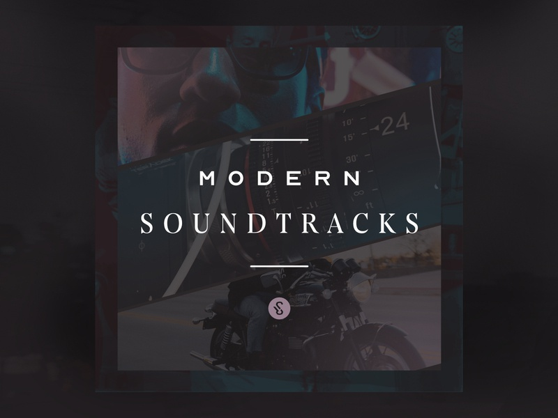Modern Soundtracks Album Cover typography spotify music affinity designer album covers