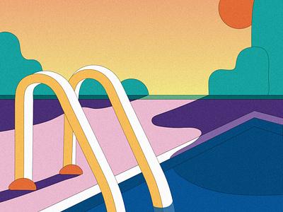 Polish Lifeguard illustration design women in illustration illustration art illustrator illustrations illustration graphics graphicdesign summer party summertime summer swim swimmingpool swimming pool party pools poolside pool ladder lifeguard