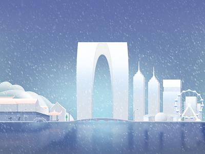 Suzhou Snow purple xy suzhou snow illustration