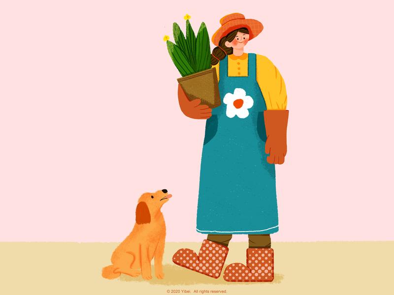 Gardener 插画 商业插画 drawing イラスト illustration