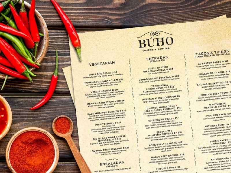 Buho Menu marketing agency marketing illustration logo graphic design graphicdesign digital art digitalart designs designer design agency design creative design creative branding