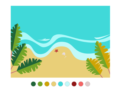 Summer Beach procreate adobe illustration figma design branding adobe xd 2d motion graphics animation user interface illustration graphic design beach summer