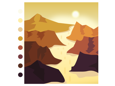 Sunrise River webapp app design views landscape portrait mountain sunrise river adobe illustration figma 2d landing page branding motion graphics 3d illustration graphic design animation adobe xd