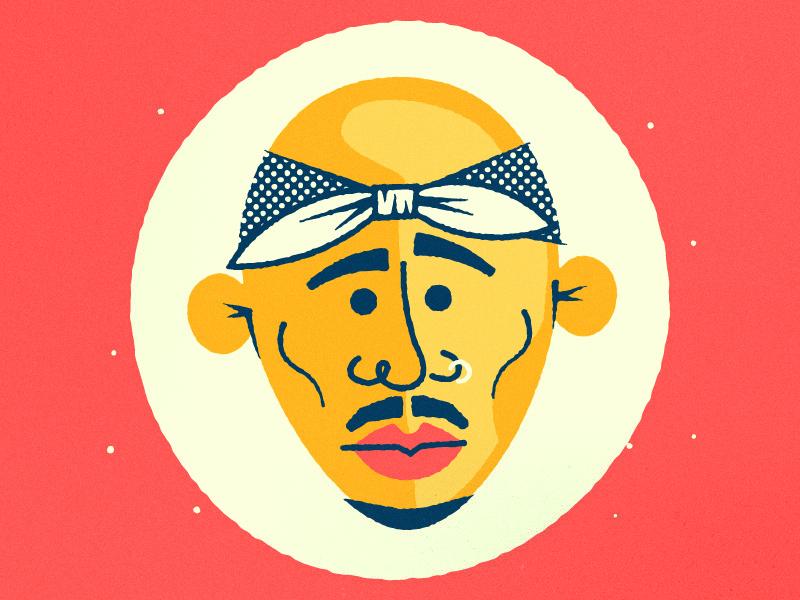 All Eyez On Me illustration color tupac thug life westcoast hit em up