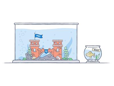 There's a Difference illustration fish tank slummin it dropbox