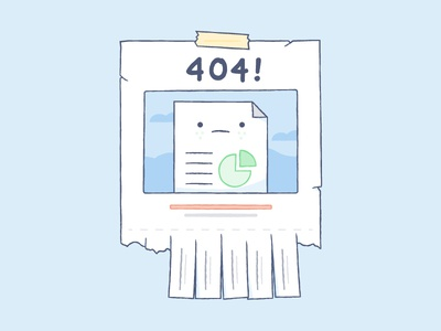 Missing File illustration dropbox color missing 404 take a tab bro error page not found