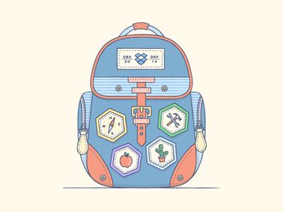 A Backpack ... illustration design backpack badges dropbox adventure