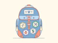 A Backpack ...