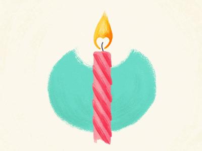 Birthday Love illustration color hand drawn digital painting birthday