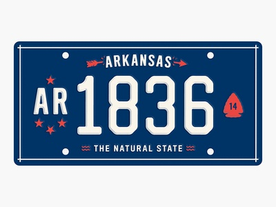 State Plates: Arkansas state plates arkansas design illustration type walmart of america