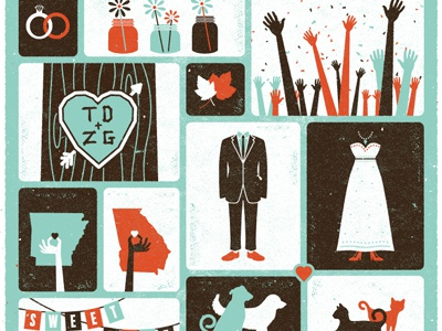 Wedding Invite Final 2 invite invitation illustration arkansas wedding little rock