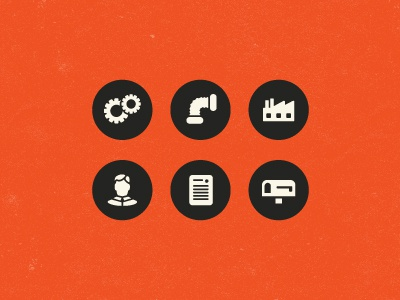 Industrial Website Icons nebo