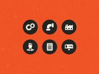 Industrial Website Icons