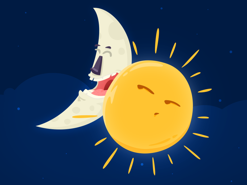 moon and sun by sinan 214 zk 246 k on dribbble