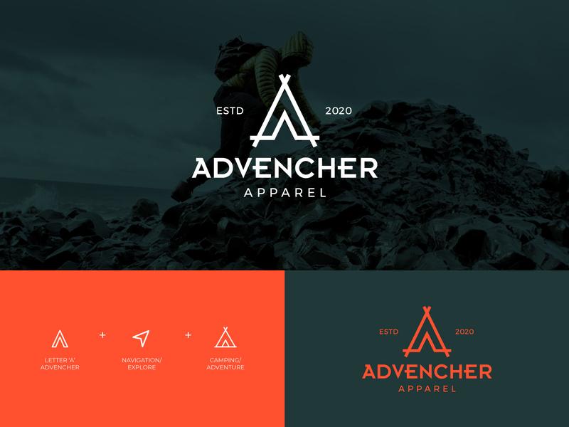ADVENCHURE | Logo camp camping logo navigation logo apparel logo a logo adventure logotype wordmark monogram branding mark minimal