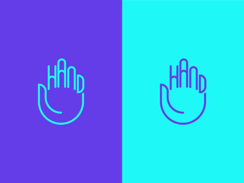 Hand logo mark wordmark logos typography logotype clever branding logo mark minimal