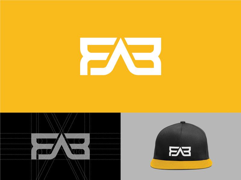 FAB Logotype wordmark logomark logotypes monogram clever logo mark logos typography branding logo logotype mark minimal