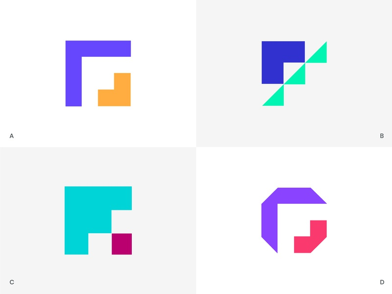 F Logo concepts f mark arrow progress logo arrow logo steps f logo clever logos icon logo branding mark minimal