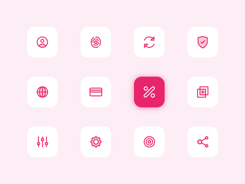 Icon Set app icon app ui minimal icon branding flat icon flat  design icons icon pack iconset icon minimal