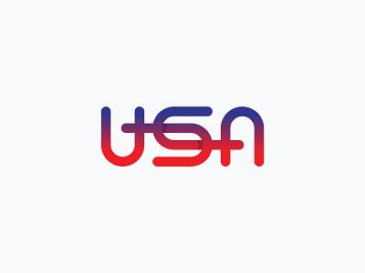 USA Ambigram usa logo usa clever logo mark monogram wordmark typography branding logotype mark minimal ambigram logo experiment
