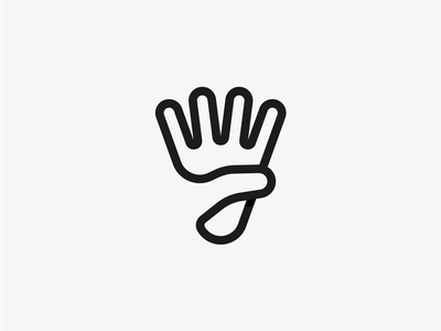 Shuttlecock Hand logo clever logo badminton logo shuttlecock hand logo hand logos logo mark icon branding logo mark minimal