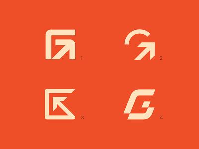 GGGG Logo exploration logo exploration network logo technology logo digital logo arrow logo mark logos logo minimal g mark g logo