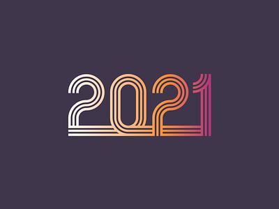 2021 happy new year logo mark wordmark mark branding minimal logodesign gradient logo typography logotype new year 2021 new year 2021