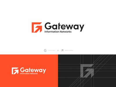 Gateway | Logo network logo software development automation technology arrows forward logo arrow logo logos monogram wordmark logo branding logotype mark minimal