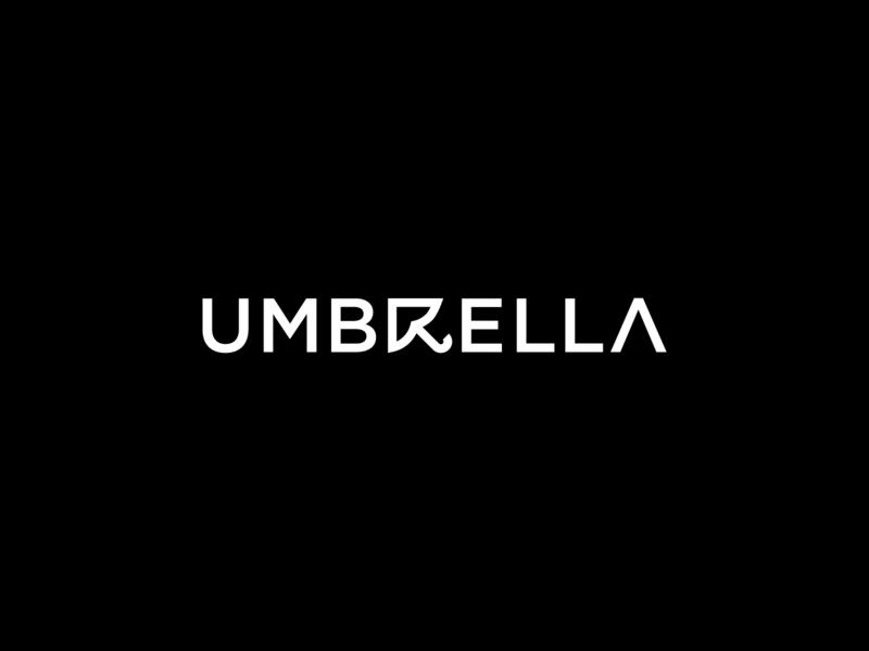 Umbrella | Wordmark typography monogram logotype logo wordmark umbrella umbrella mark umbrella logo minimal app minimal mark minimal wordmark minimal logo clever logo