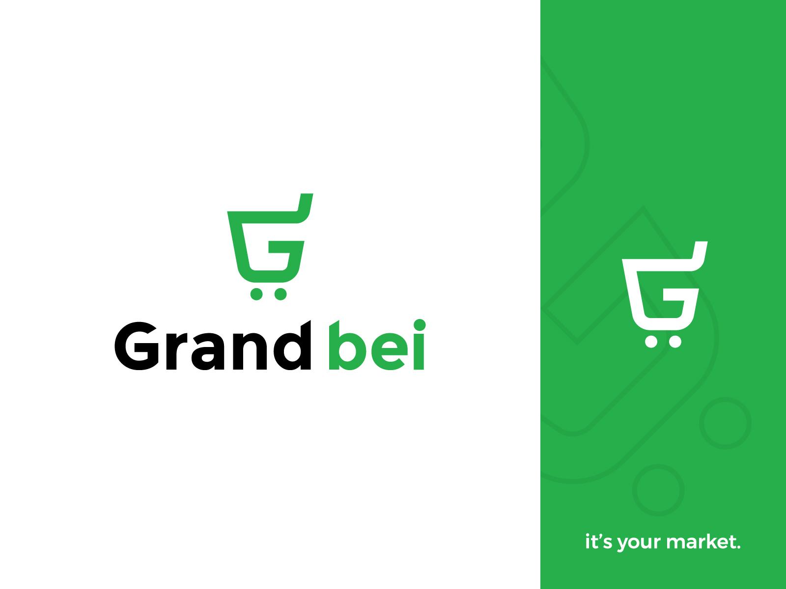 Shopping Cart in Letter G logo