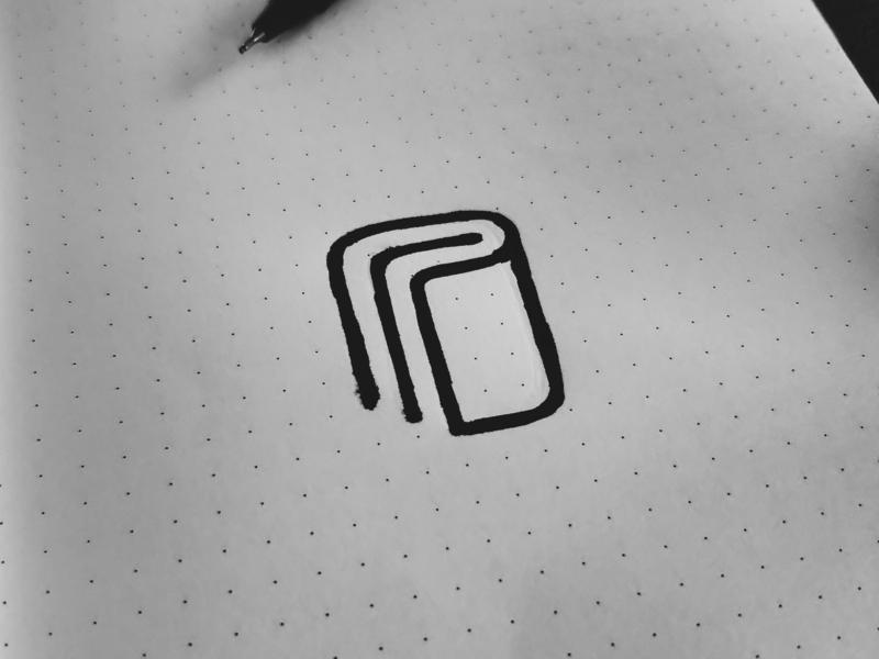 Passbook logo Sketch minimal line logo sketchbook book logo icon branding mark sketch logo sketch logo concept logo passbook