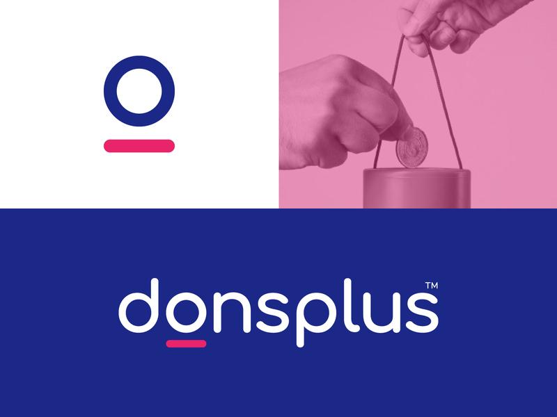 Donsplus Logo donation logo donation charity charity logo wordmark icon monogram logos branding logotype mark minimal