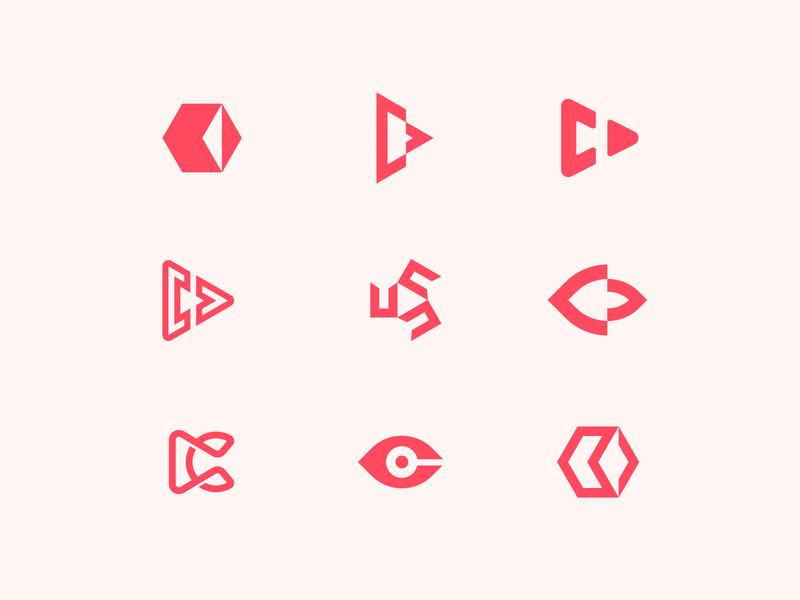 C + Media/Film Logo exploration studio logo line logo eye logo vision concept logotype minimal minimal art logodesign logo c mark c logo