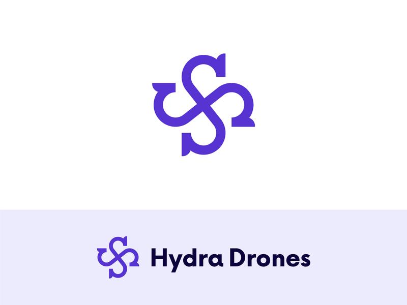 Hydra Drones Logo (Unsold) infinity infinity logo robotic logo animal logo drone logo drones dragon logo dragon branding logos logotype mark minimal