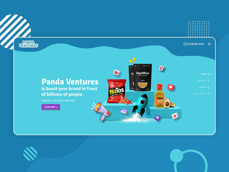 Panda Ventures - Branding Website UI landing page design design creative design website ui design full screen website full scroll responsive design latest design website design ui design