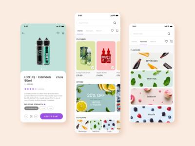Mobile App - Vape Shop