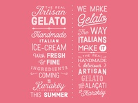 Ice Cream Typography