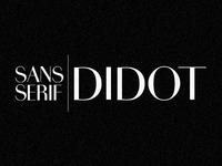 Sans Serif Didot