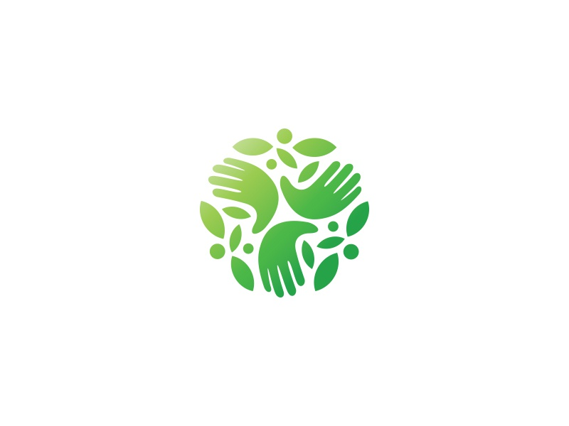 Sustainable Business Logo gradient business sustainable green. eco. ecology branding icon logo