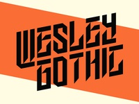 Wesley Gothic | Free Font