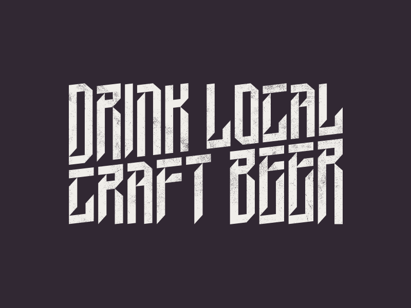 Drink Local Craft Beer headline beer german poster freebie free gothic font typography