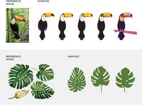 Toucan pattern development