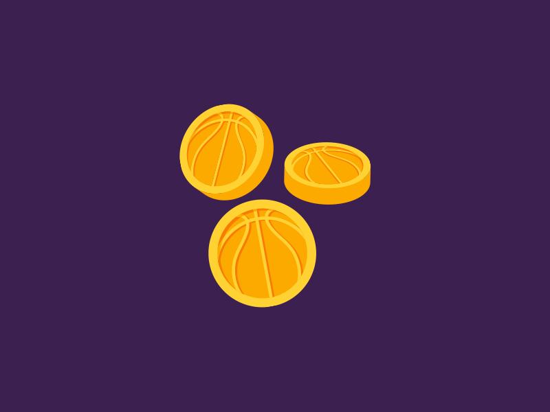 Basketball Coins gold betting bet money app ball basket basketball coin icon